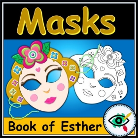Purim Craft – Book of Esther Masks