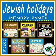 Jewish Holidays Memory Games Bundle