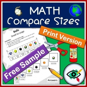 Math – Compare Sizes Printable