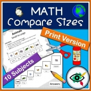 Math compare sizes – Printable