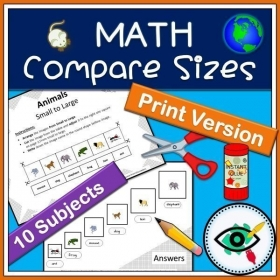 Math – Printable Activity – Compare sizes