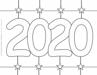 New Year 2020 – Coloring pages – 2020 Stars sign