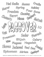 Passover worksheet – Color related words