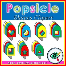Summer Season – Clipart – Popsicle shapes