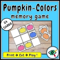 Fall Season – Matching Game – Pumpkin Colors