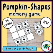 Pumpkin Shapes Memory Game
