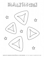 Purim – Coloring page – Hamantaschen Cookies