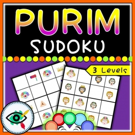 Purim – Sudoku – Masks and Symbols