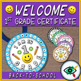 Back to School – Certificates – Welcome to Grade 1