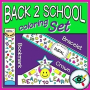 Back to School Coloring Set