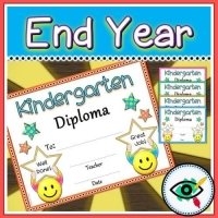 End of Year Diploma for Kindergarten