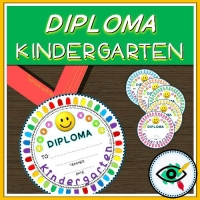 End of Year Rounded Diploma for kindergarten