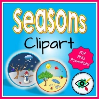 Four Seasons – Clipart – Circle Frame Images