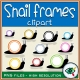 Fall Season – Clipart – Snail round Frames