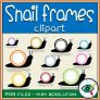 Snails Rounded Frames Clipart