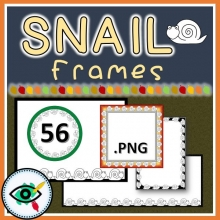 Snail Frames Clipart for the Fall season