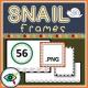 Fall Season – Clipart – Snail Frames