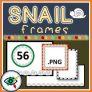 Snail Frames Clipart for the Fall season