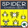 Spider Emotions Clipart