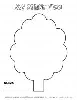 Spring worksheet – My Spring Tree
