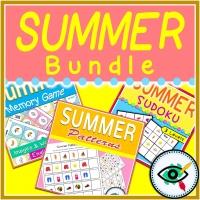 Summer Logical Activities Thinking Bundle