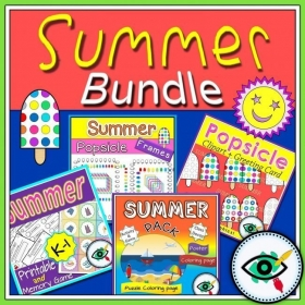 Summer season – Clipart and Games – Bundle