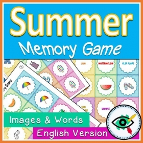 Summer Season – Matching Game – English