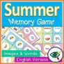 Summer Memory Game – With and without words in English