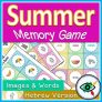 Summer Memory Game – With and without words in Hebrew