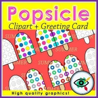 Summer Season – Clipart – Popsicles and Greetings