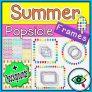 Summer Popsicle Frames & Backgrounds Clipart
