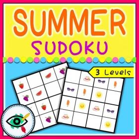 Summer season – Sudoku – Summer symbols