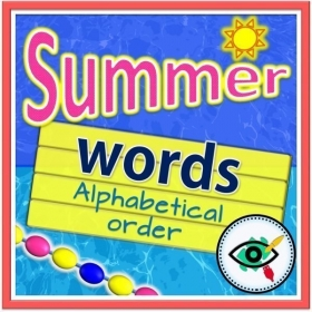 Summer Season – Reading – Arrange Words Alphabetically
