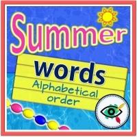Summer Season – Reading – Arrange Words Alphabetically