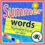 Summer Words in Alphabetical order