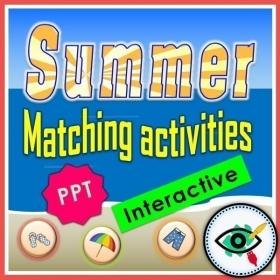 Summer Season – Reading – Word Matching Interactive