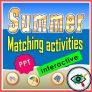 Summer Words Matching Interactive Activities