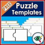 Puzzle templates clip art