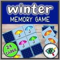 Winter Season – Matching Game – Umbrella