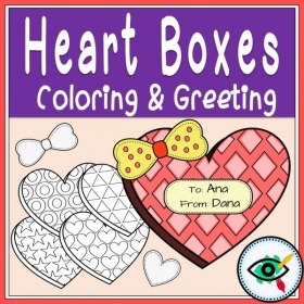 Valentines day – Coloring Greetings Hearts