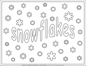 Winter season – Coloring pages – Snowflakes