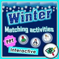 Winter Season – Matching Game – Powerpoint